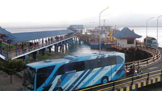Gilimanuk harbour, connecting you to Java