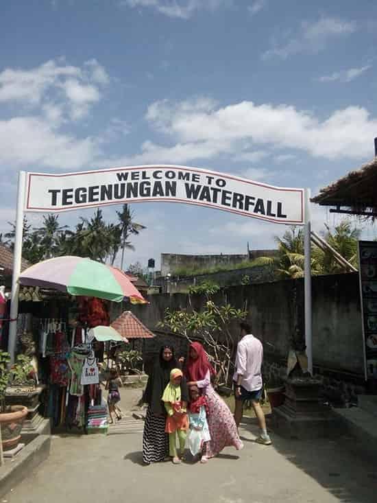 The entrance gate of Tegenungan Waterfall in Ubud