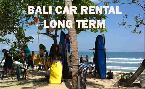 Long term for car rental in Bali
